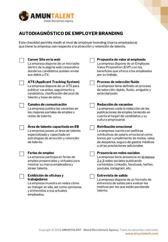 checklist employer branding